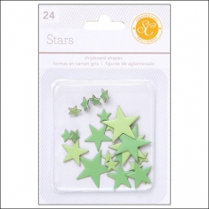 Studio Calico Chipboard Stars Greens Essentials Collection