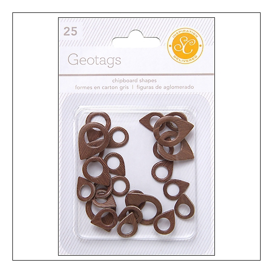 Studio Calico Chipboard Geotags Woodgrain Essentials Collection