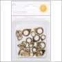 Studio Calico Chipboard Geotags Gold Essentials Collection