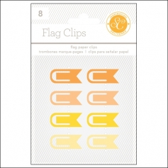 Studio Calico Flag Paper Clips Yellow and Orange Essentials Collection
