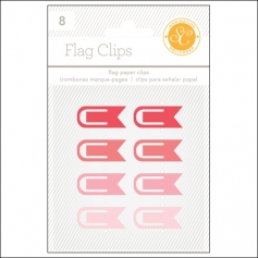 Studio Calico Flag Paper Clips Red and Pink Essentials Collection