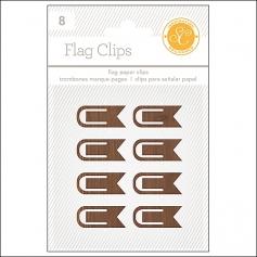 Studio Calico Flag Paper Clips Woodgrain Essentials Collection