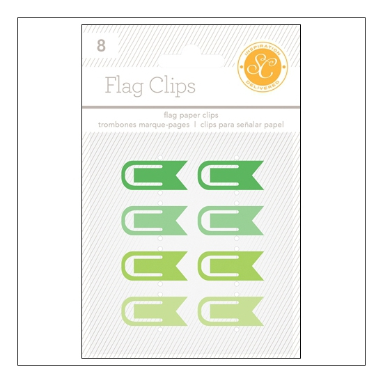 Studio Calico Flag Paper Clips Greens Essentials Collection