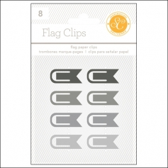 Studio Calico Flag Paper Clips Black and Gray Essentials Collection