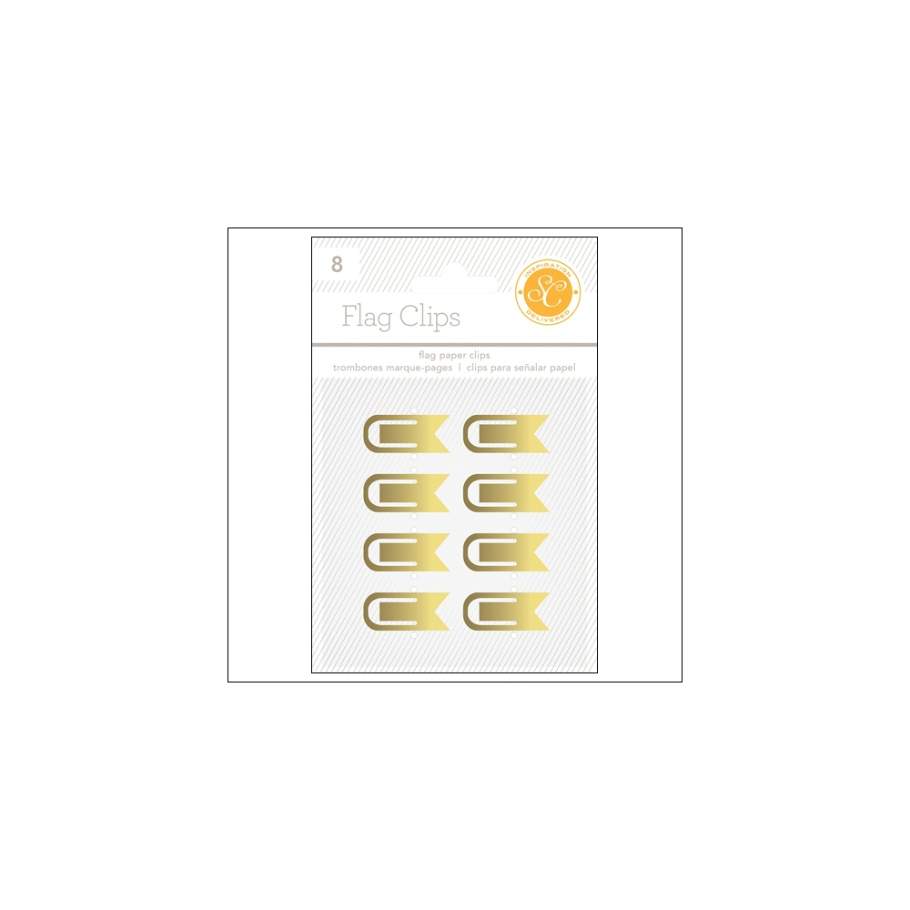 Studio Calico Flag Paper Clips Gold Essentials Collection