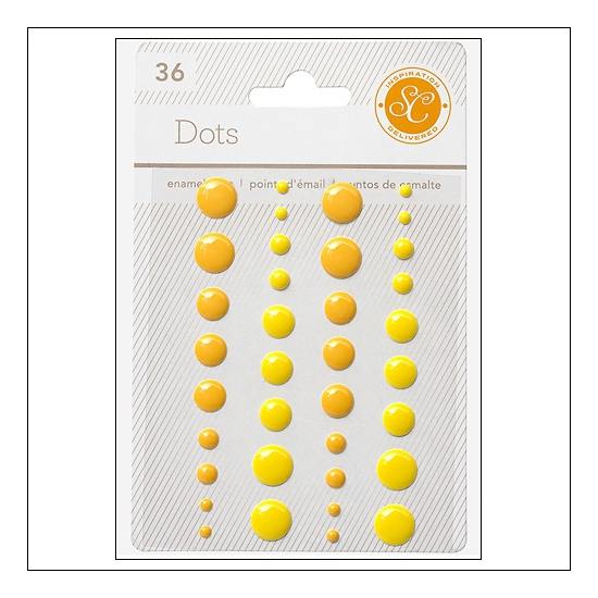 Studio Calico Enamel Dots Yellow and Orange Essentials Collection