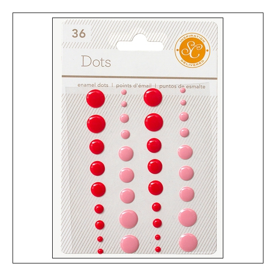 Studio Calico Enamel Dots Red and Pink Essentials Collection
