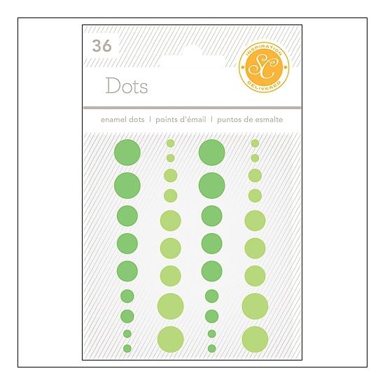 Studio Calico Enamel Dots Greens Essentials Collection