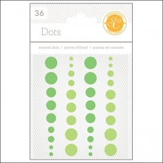 Studio Calico Enamel Dots Greens Essentials Collection