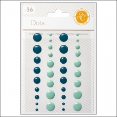 Studio Calico Enamel Dots Blue and Aqua Essentials Collection