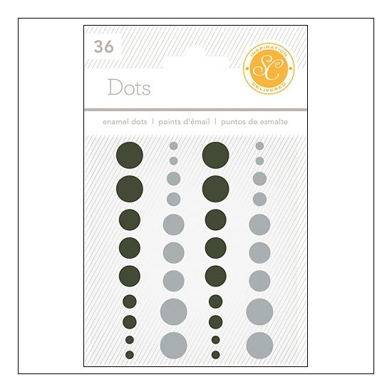 Studio Calico Enamel Dots Black and Gray Essentials Collection