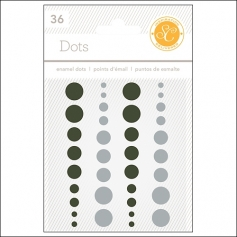 Studio Calico Enamel Dots Black and Gray Essentials Collection