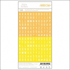 Studio Calico Tiny Alpha Stickers Yellow and Orange Essentials Collection