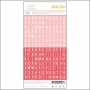 Studio Calico Tiny Alpha Stickers Red and Pink Essentials Collection