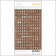 Studio Calico Tiny Alpha Stickers Woodgrain Essentials Collection