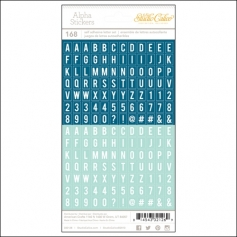 Studio Calico Tiny Alpha Stickers Blue and Aqua Essentials Collection