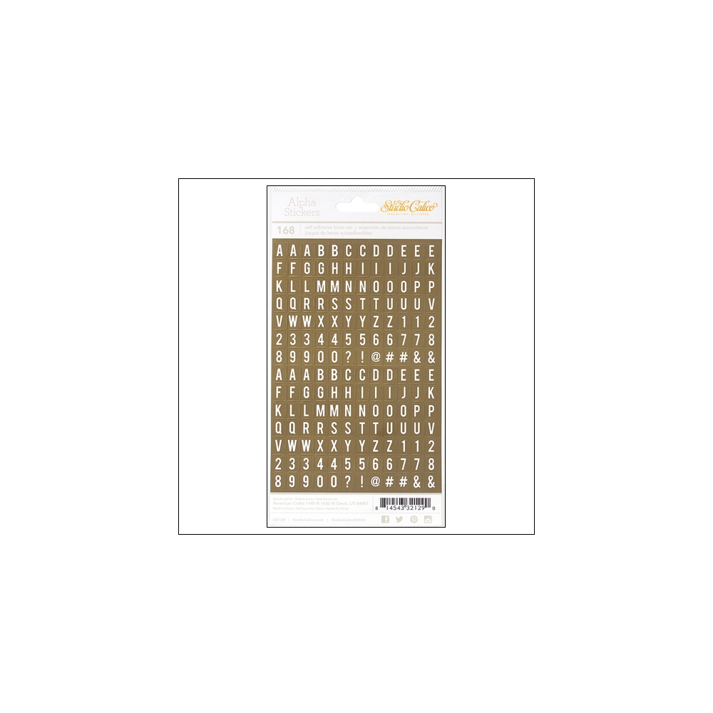 Studio Calico Tiny Alpha Stickers Gold Foil Essentials Collection