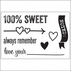 Elles Studio Clear Stamps Sweet The Sweet Life Collection