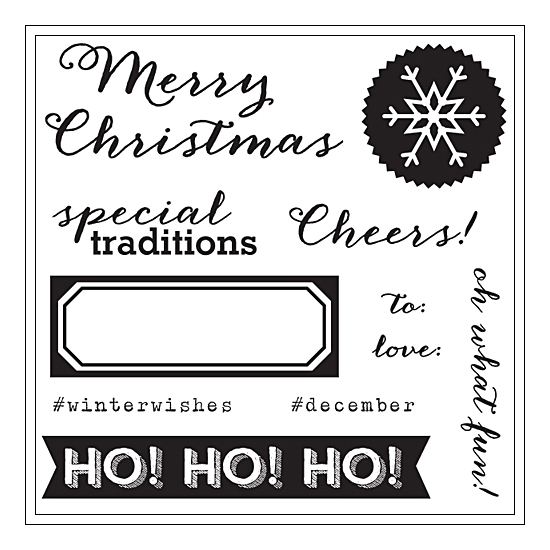 Elles Studio Clear Stamps Cheers Noel Collection