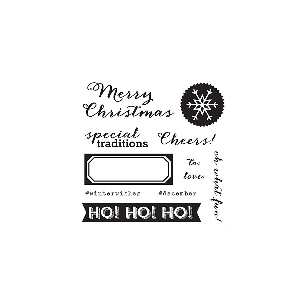 Elles Studio Clear Stamps Cheers Noel Collection