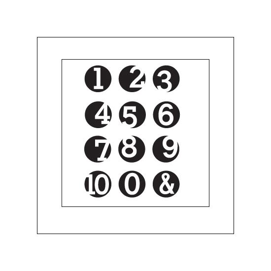 Elles Studio Clear Stamps Number It