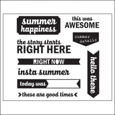 Elles Studio Clear Stamps Summer Happiness Saltwater Collection