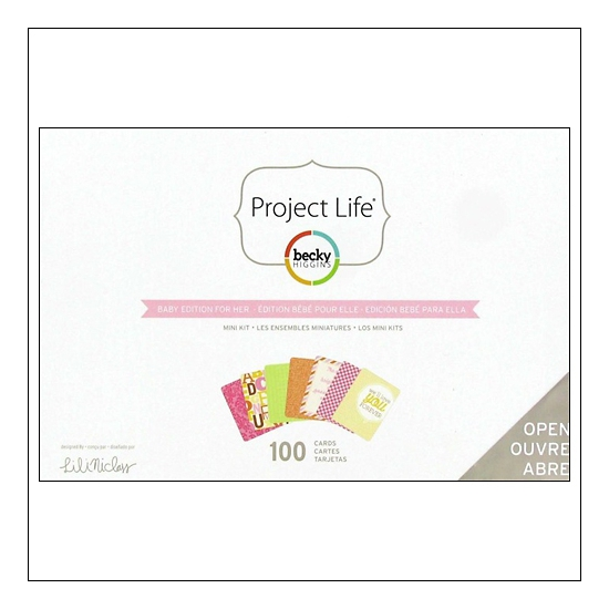 American Crafts Project Life Mini Kit Baby Edition For Her by Lili Niclass /Becky Higgins