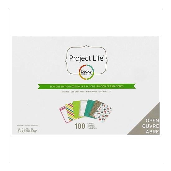 American Crafts Project Life Mini Kit Seasons Edition by Lili Niclass /Becky Higgins