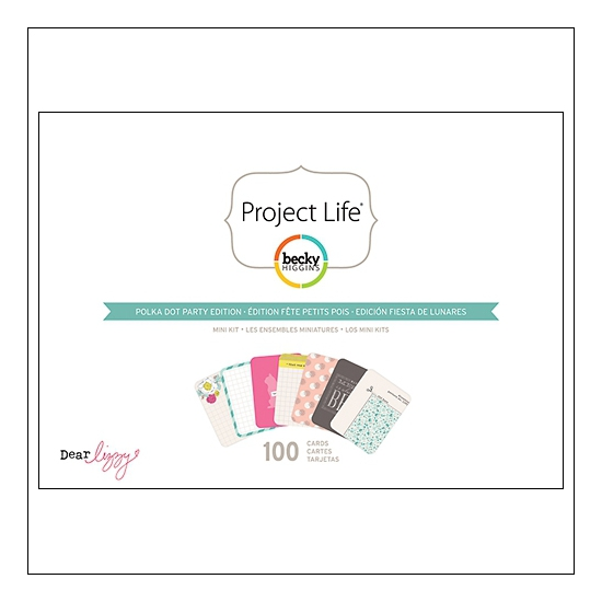 American Crafts Project Life Mini Kit Polka Dot Party Edition by Dear Lizzy/Becky Higgins