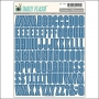 October Afternoon Shop Front Alphabet Stickers Deep Sea Daily Flash Collection
