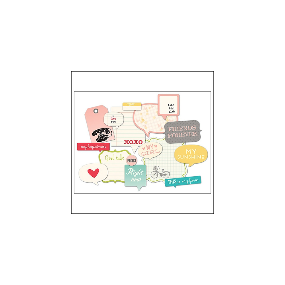 October Afternoon Girl Talk Die Cuts Flash Blurbs Daily Flash Collection