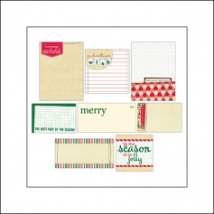 Elles Studio Journaling Tags Be Merry Collection