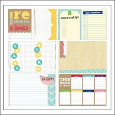 Elles Studio Large and Medium Journaling Tags Day to Day Collection