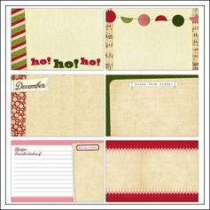 Elles Studio Large Journaling Tags Christmas