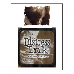 Ranger Distress Ink Pad Cube Walnut Stain by Tim Holtz