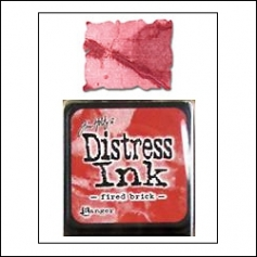 Ranger Distress Ink Pad Cube Fired Brick by Tim Holtz