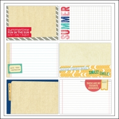 Elles Studio Large Journaling Tags Summer Lovin Collection