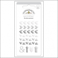 Doodlebug Sprinkles Lily White Arrow Stickers