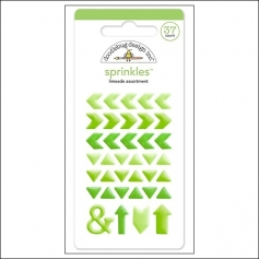 Doodlebug Sprinkles Limeade Arrow Stickers