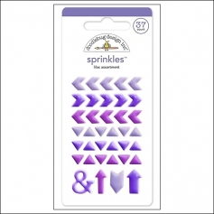 Doodlebug Sprinkles Lilac Arrow Stickers