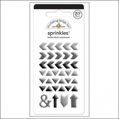 Doodlebug Sprinkles Beetle Black Arrow Stickers
