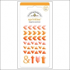Doodlebug Sprinkles Tangerine Arrow Stickers