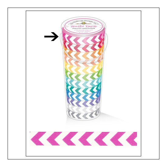 Doodlebug Washi Tape Chevron Bubblegum