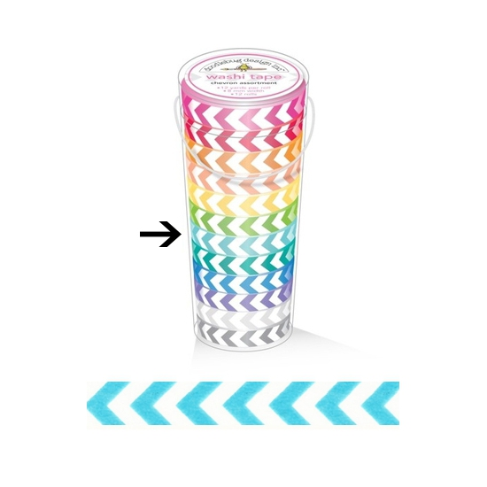 Doodlebug Washi Tape Chevron Swimming Pool