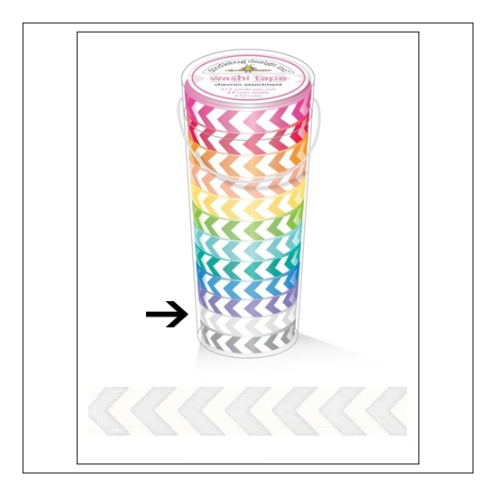 Doodlebug Washi Tape Chevron Lily White
