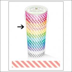Doodlebug Washi Tape Candy Stripe Cupcake
