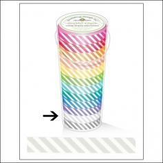 Doodlebug Washi Tape Candy Stripe Lily White
