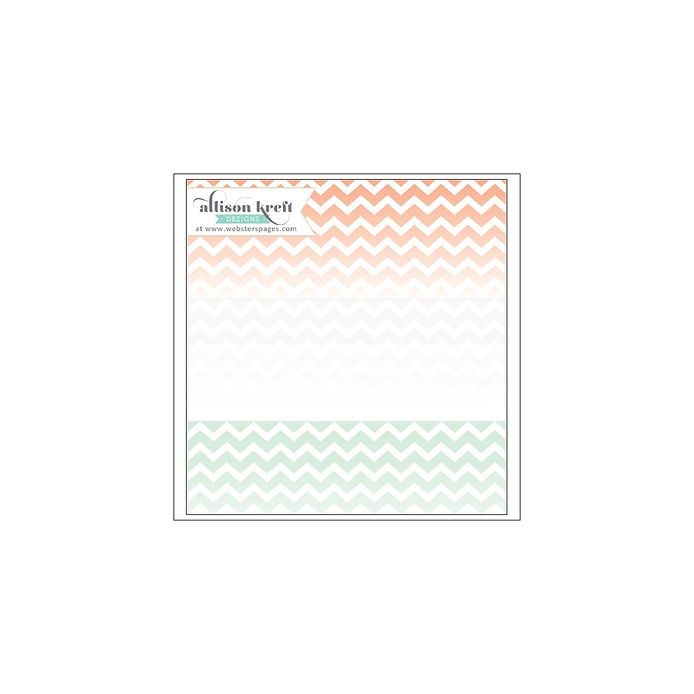 Websters Pages Clear Overlay Multi Chevron Hello World Collection by Allison Kreft