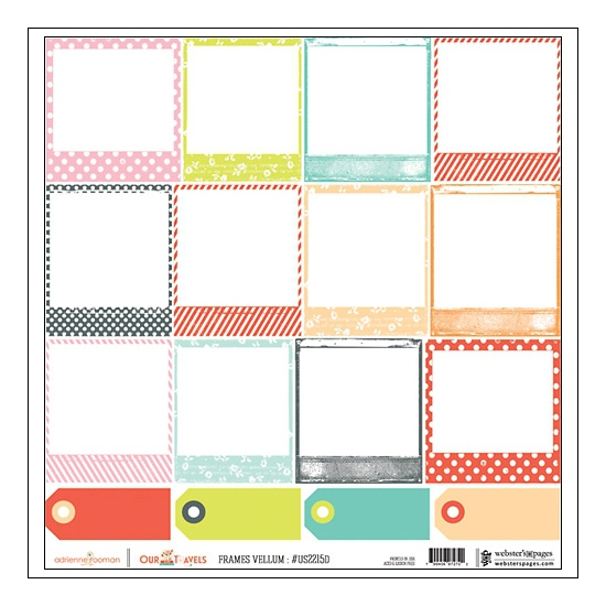 Websters Pages Vellum Sheet Frames Our Travels Collection by Adrienne Looman