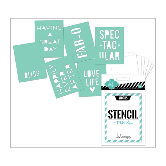 Heidi Swapp Mini Stencil Kit Words